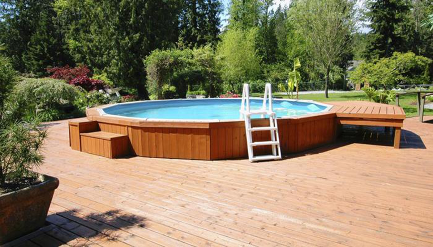 Home swimming pools above ground