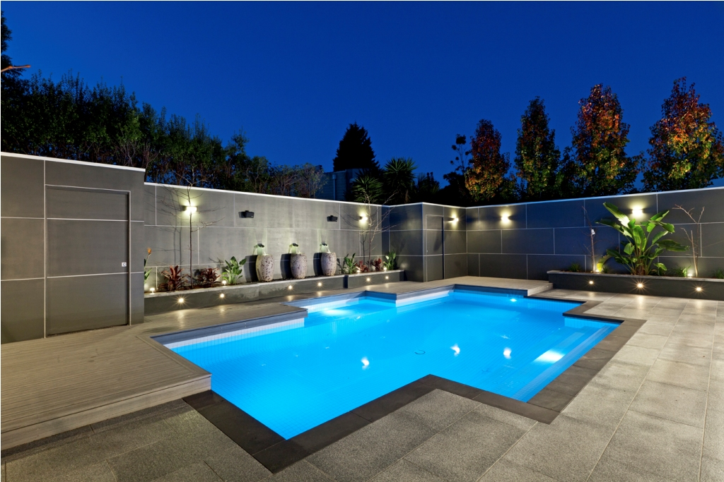 Pool modern  Sophisticated Pool Designs for Modern Homes